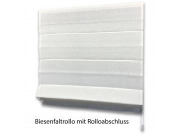 Biesenfaltrollo aus Classic Leinen